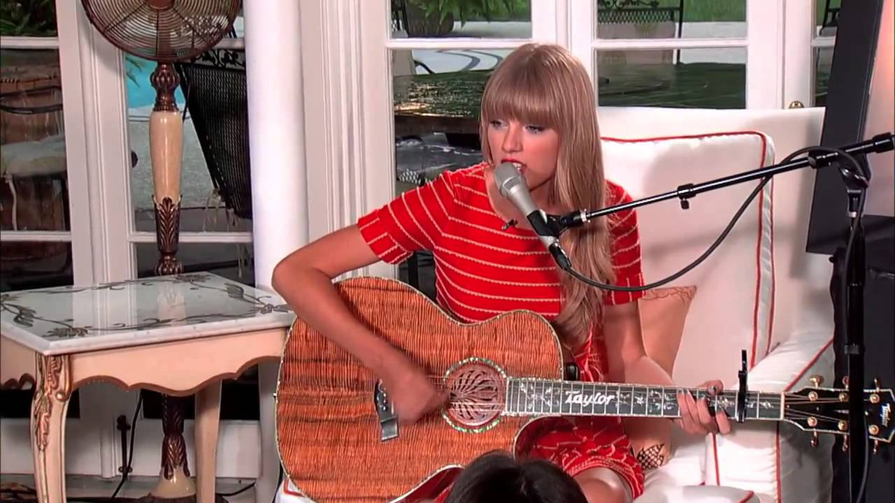 Taylor Swift Acoustic Treacherous From Red Album Youtube