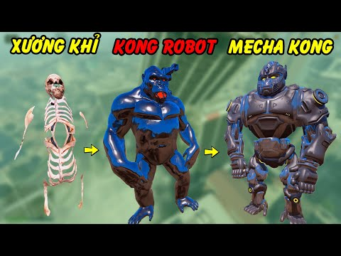 GTA 5 - Mecha Kong xuất hiện - Từ bộ xương Titan tái sinh thành Robot siêu chất | GHTG