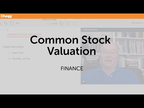 Common Stock Valuation | Finance | Chegg Tutors