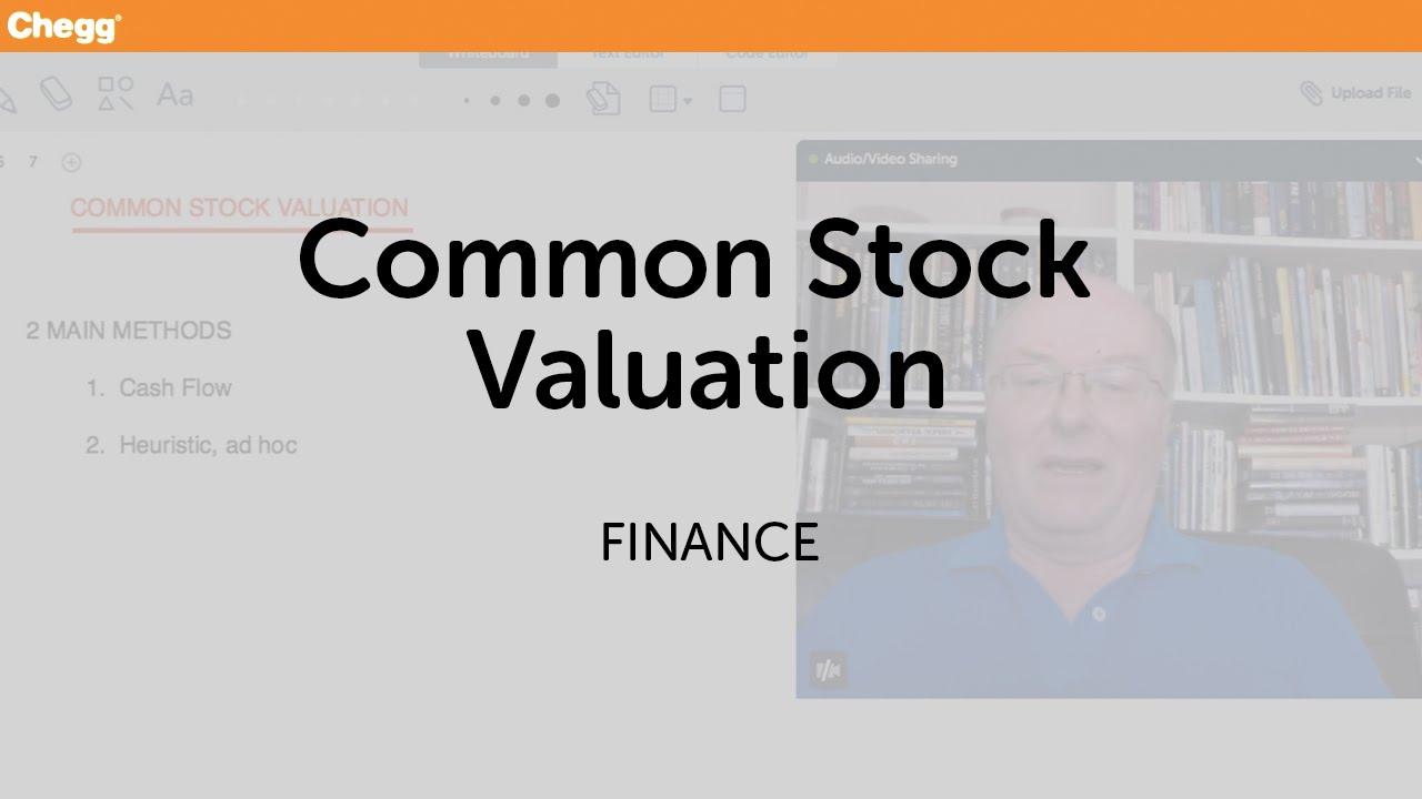 Common Stock Valuation | Finance | Chegg Tutors - YouTube