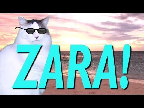 HAPPY BIRTHDAY ZARA! - EPIC CAT Happy Birthday Song