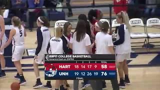 UNH Women's Basketball vs Hartford Highlights 02/14/18