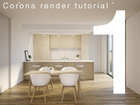 #1: Corona interior rendering (Step by step)