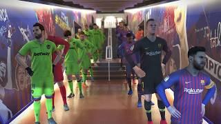 Barcelona vs Levante / Full Match & Amazing Goals / PES 2019 PC Gameplay