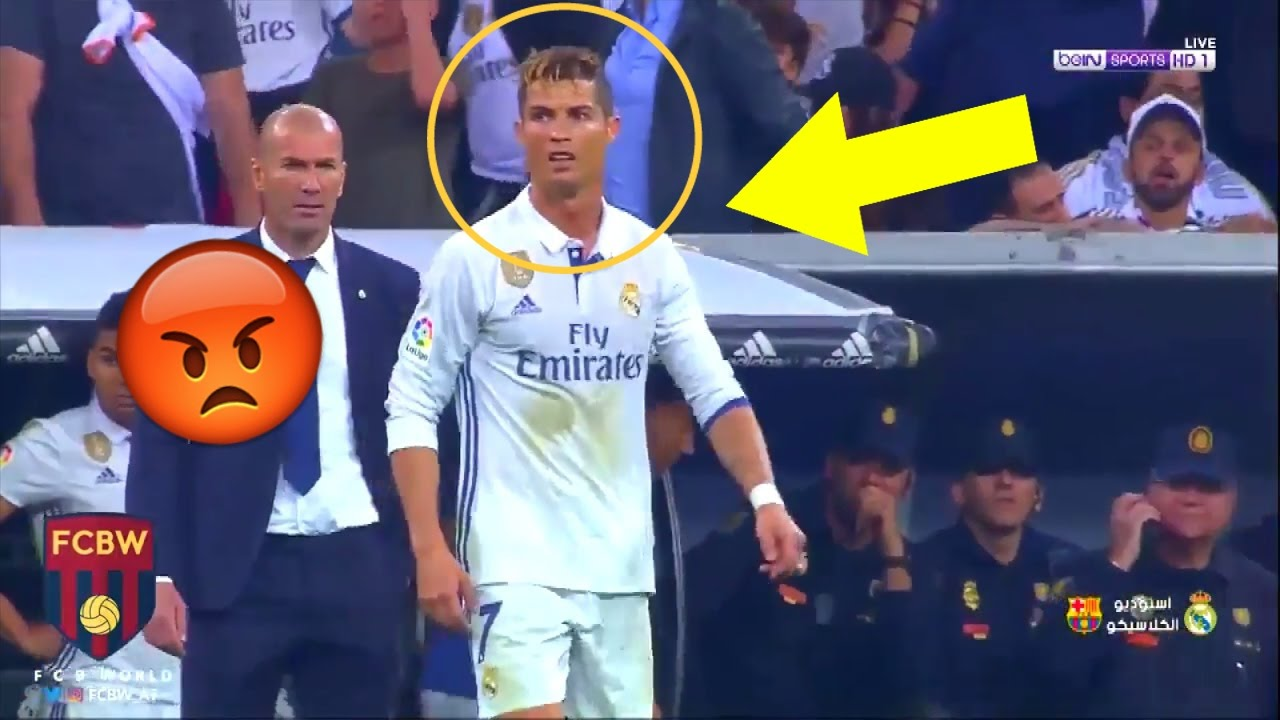 When Cristiano Ronaldo Gets Angry Fights Angry Moments 2017 Youtube