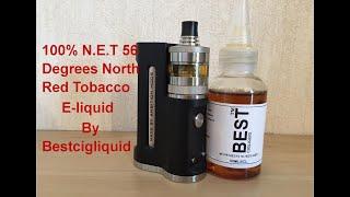 100% N.E.T 56 Degrees North Red Tobacco E-liquid Review. By Bestcigliquid.