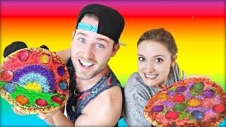 RAINBOW PIZZA DIY!!! (with my little sister Erin)