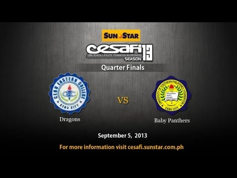 CEC Dragons vs USP-F Baby Panthers - September 5, 2013