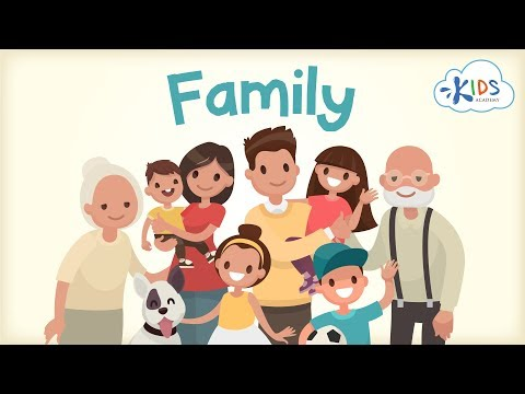 Family Vocabulary: Mother, Father, Sister, Brother, Grandma | Kids Academy