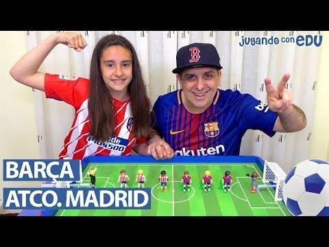 Partido BARCELONA vs ATLÉTICO DE MADRID con Playmobil. El partido definitivo