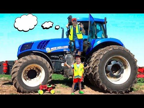 Трактор сломался Алекс приехал на помощь #Машинки для мальчиков Видео про трактор для детей