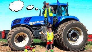 видео: Трактор сломался Алекс приехал на помощь #Машинки для мальчиков Видео про трактор для детей