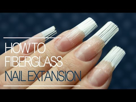 How To Do Fiberglass Nails | Gel Nail Extension Tutorial Step By Step