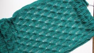 Вязание спицами: Отчет № 2 по СП_вяжем ажурный палантин