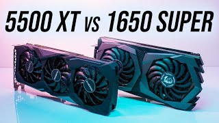 AMD Radeon RX 5500 XT 8gb vs Nvidia GTX 1650 Super 4gb - 17 Games Compared!