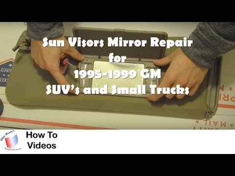 How to Repair and Replace Vanity Mirror Cover for GM SUV and Truck