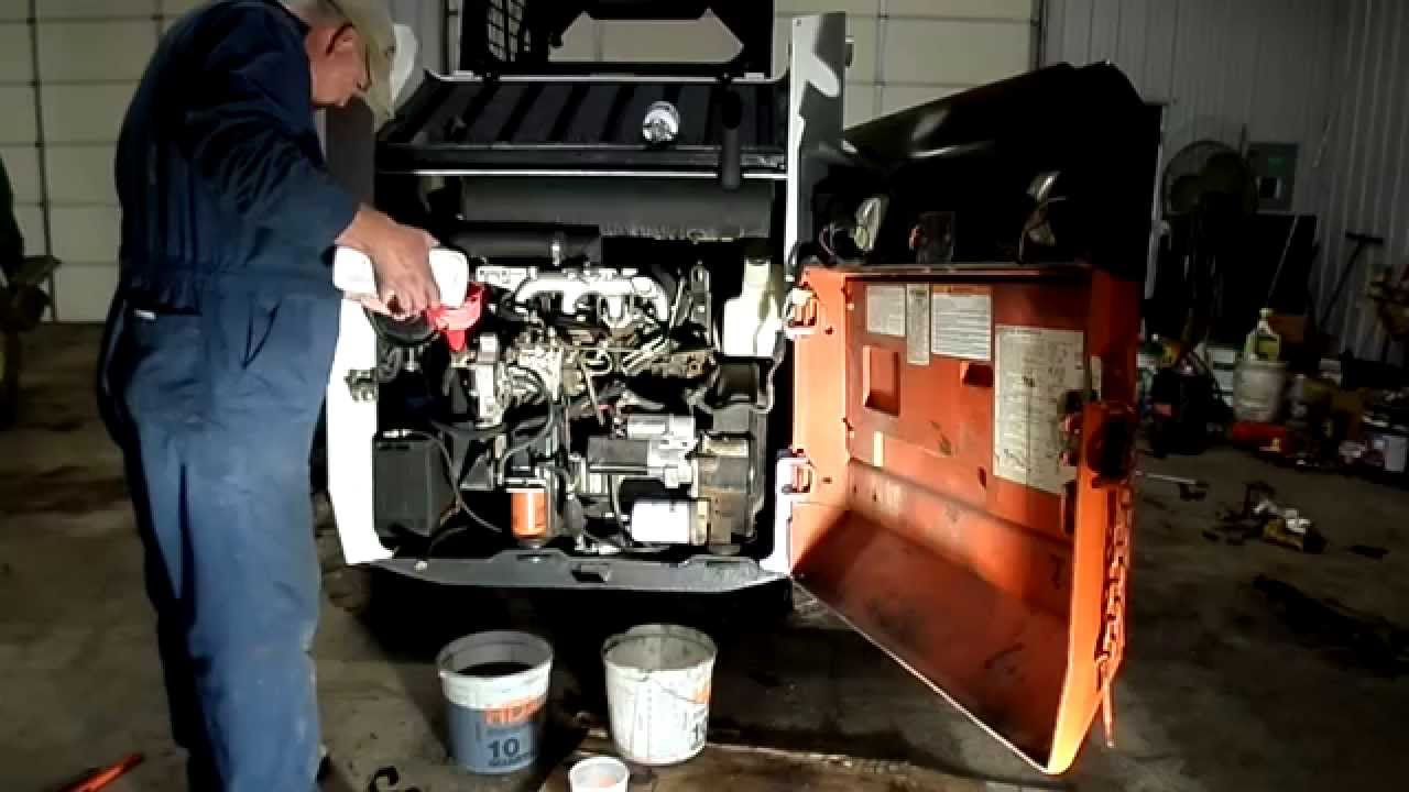 Bobcat 853 Oil Filter Change