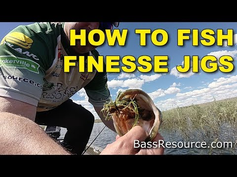 How To Fish Finesse Jigs | Bass Fishing