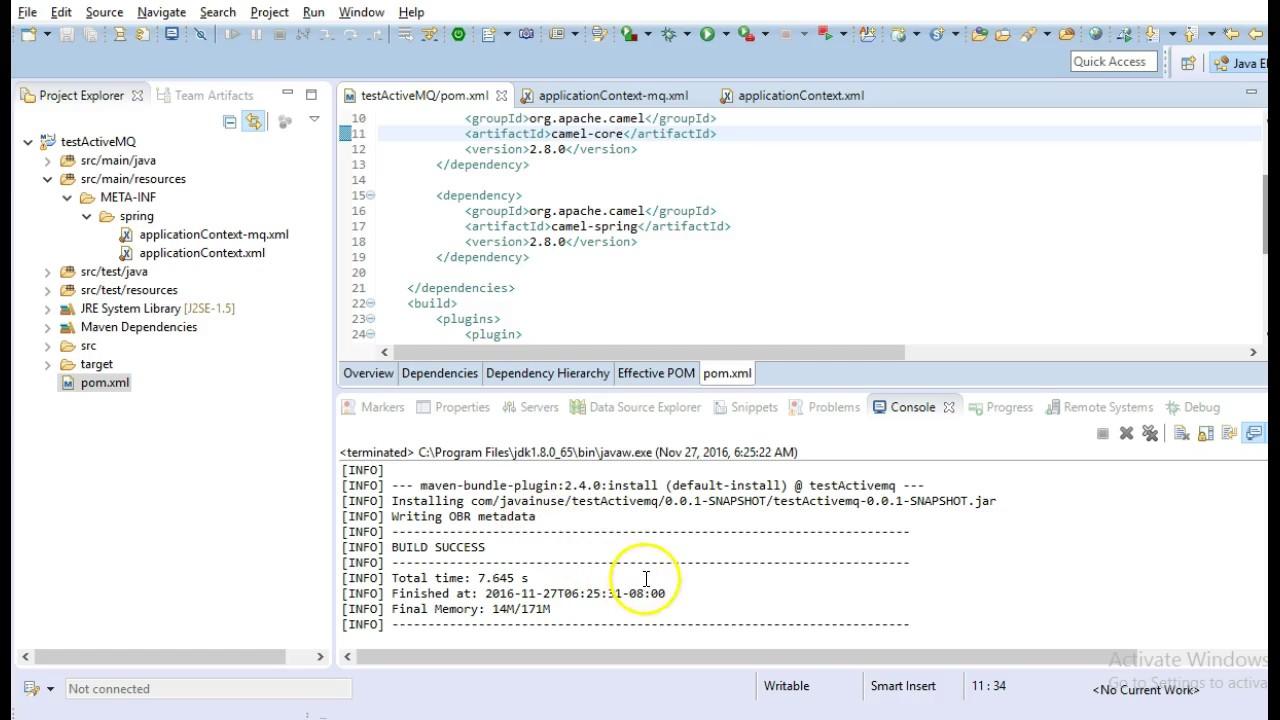 Apache Camel + Spring + ActiveMQ + JBoss Fuse | JavaInUse