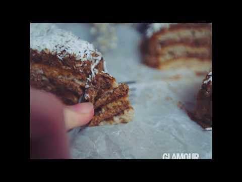 Торт клубничный ежик