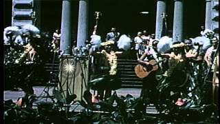 NASA astronaut Gordon Cooper greeted by a large crowd at Iolani Palace following ...HD Stock Footage