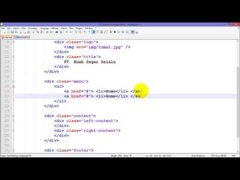 Tutorial Membuat Website Dengan HTML Dan CSS Part 2