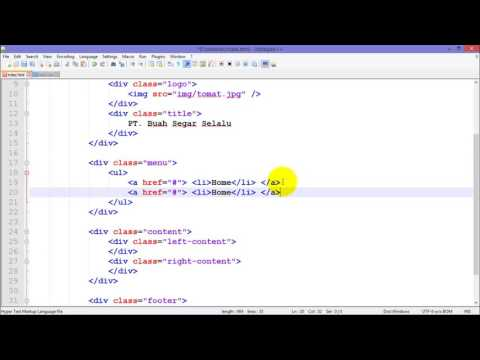 Tutorial Membuat Website Dengan HTML Dan CSS Part 2