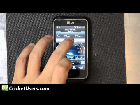 CricketUsers.com - Cricket Wireless LG Optimus Regard 4G LTE Speed Test (Houston, TX)