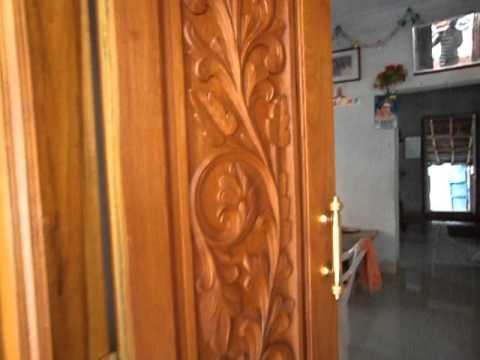 Arr home main door design youtube for Front double door designs indian houses
