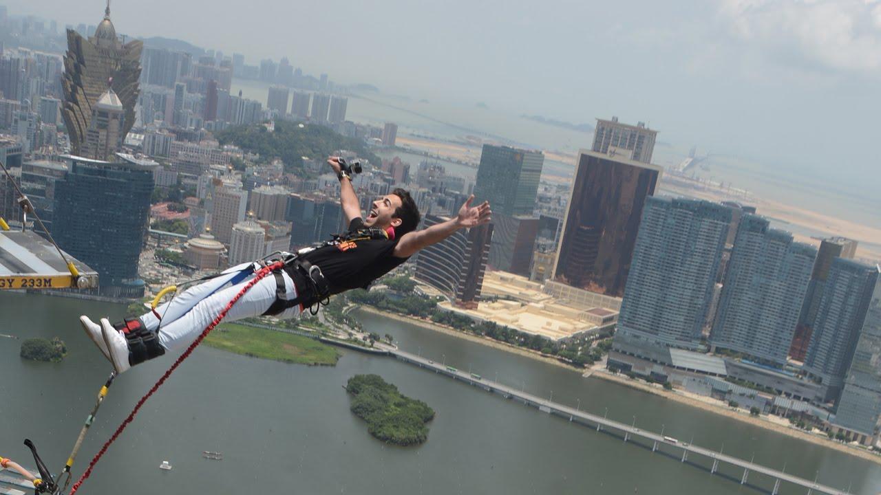 Worlds Highest Bungee Jump Forward Backwards Macau Tower - Where is macau in the world