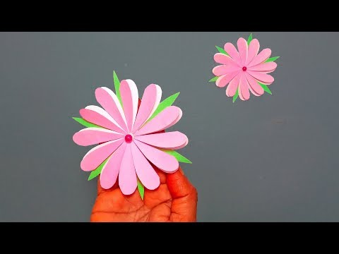 How to Make DIY Easy & Beautiful Paper Flower for Wall /Room/Home Decoration!!!