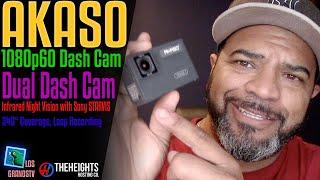 #Akaso Trace 1 1080p60 Dual Dash Cam 📹 : #LGTV Review