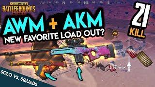 AWM + AKM - Solo vs. Squads - FPP 21 Kills - PUBG Mobile
