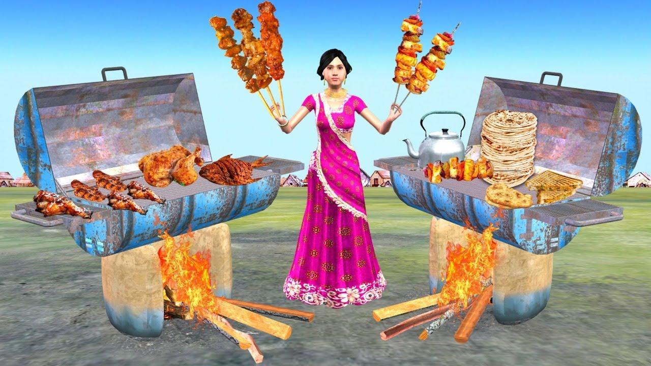 स्ट्रीट फूड बेचने वाली महिला Street Food Lady Selling Comedy Video Hindi Kahaniya हिंदी कहानियां