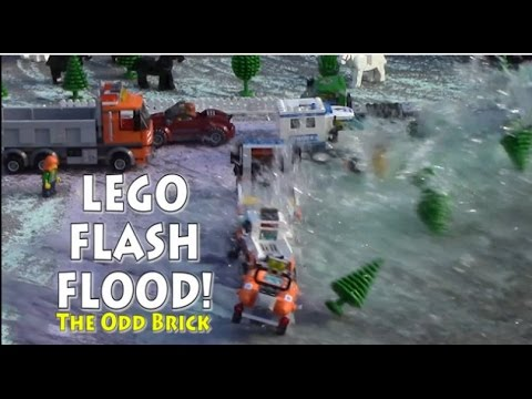 LEGO Flash Flood - An Earthquake Unleashes a Flood of Water