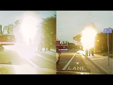 Police Dash Cam: Electrical Vault Explosions, Firefighter Down