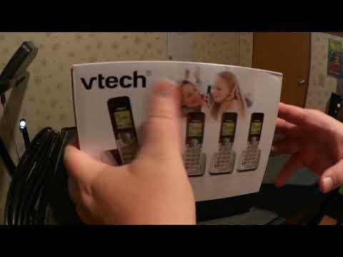 2018 3 21 UnBoxing VTech CS6529 4 DECT 6 0 Phone Answering System with Caller ID, Call Waiting