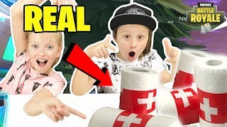 FORTNITE BANDAGES IN REAL LIFE! | FORTNITE IRL