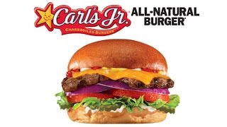 *new* All Natural Burger - Hardees/ Carl's Jr Parking Lot Review