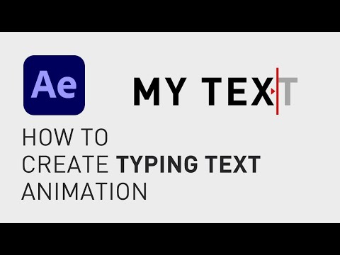 How to create typing text animation