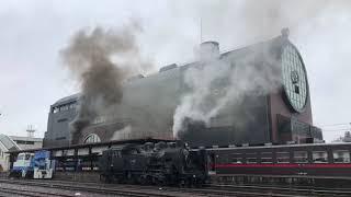 真岡鐵道 SLフェスティバル 下りSLもおか発車汽笛3重奏【ありがとうC11 325】
