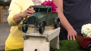 Plow & Hearth Outdoor/indoor Vintage Metal Truck Planter With Alberti Popaj