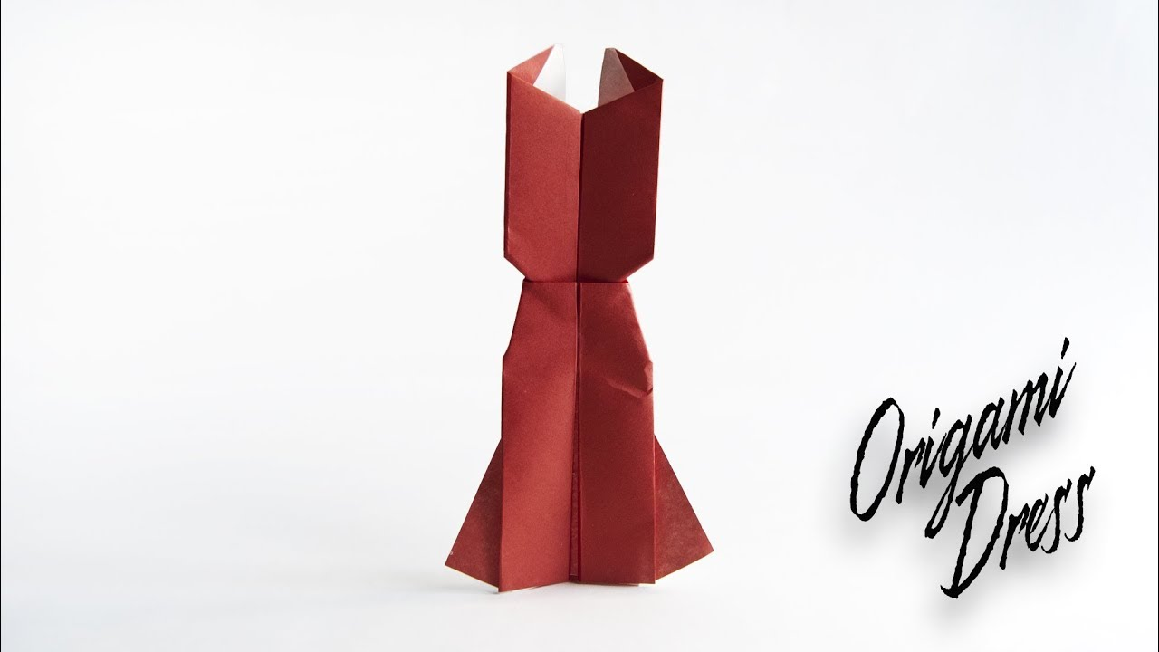 how to make an origami dress origami clothes youtube