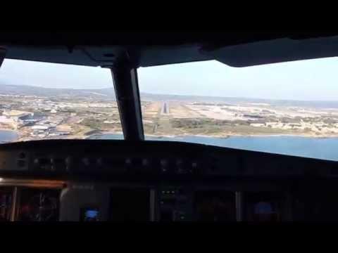 NIKI Airbus A320 Cockpit Landing In Palma De Mallorca, Spain