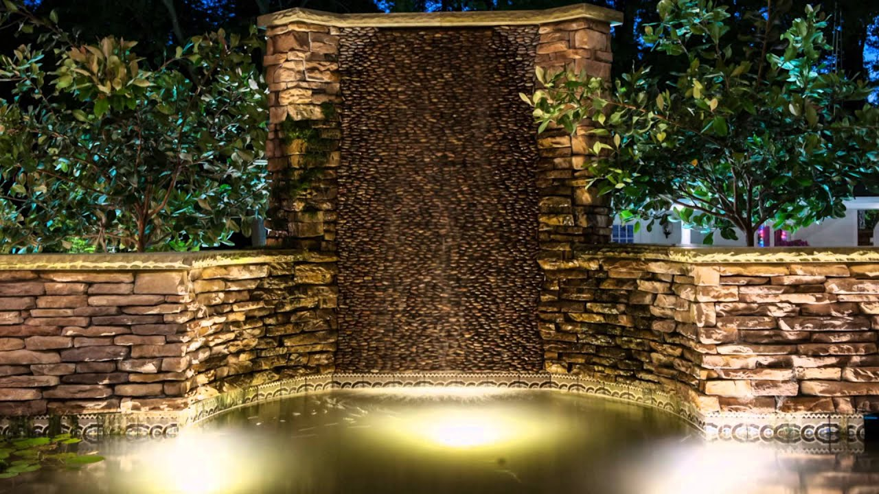 Hardscape and rock wall outdoor lighting youtube hardscape and rock wall outdoor lighting aloadofball Gallery