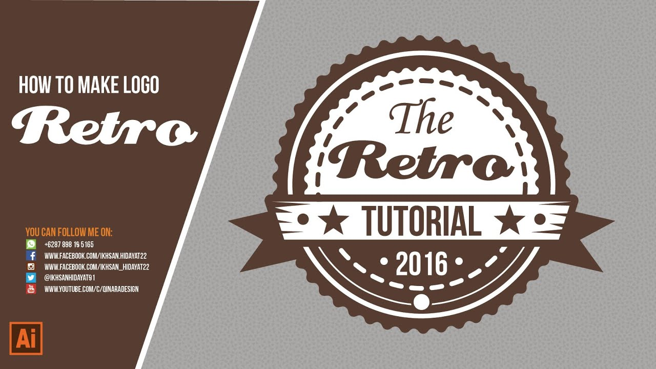 the retro logo tutorial how to make logo retro style youtube. Black Bedroom Furniture Sets. Home Design Ideas
