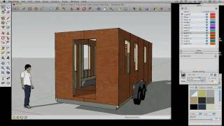 How To Draw A Tiny House With Google Sketchup - Part 2