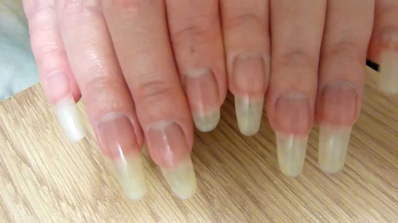 Clear long natural fingernails of reallongnailsuk (video 22) - YouTube