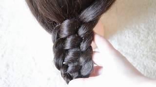 Коса из 4 прядей вариант 2  4 Strand Braid Как плести косы Обучение