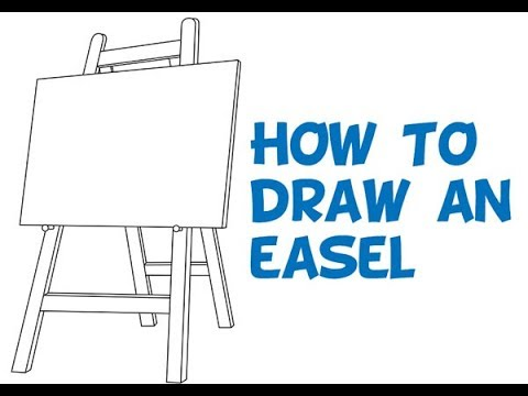how to draw an easel easy step by step drawing tutorial for